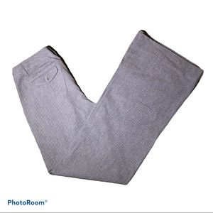 Gap Wide Leg Gray and White Pinstripe Pant Size 4L